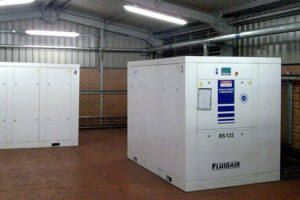 Heating and ventilation systems for compressor rooms