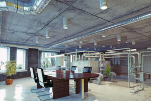 Heating and ventilation systems for offices