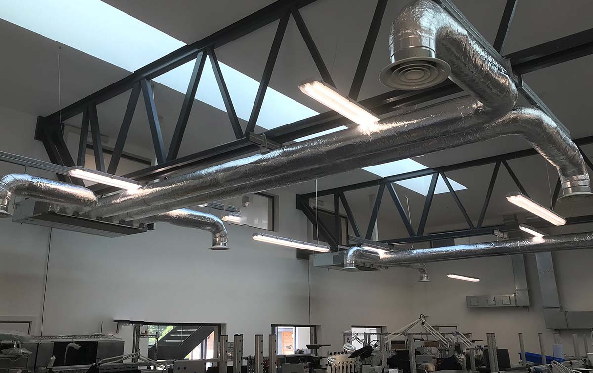 Insulated ductwork for engineering offices